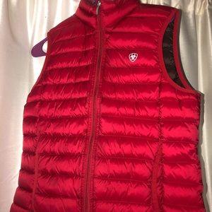 Medium ariat red vest .